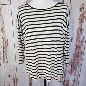 Forever 21 black & white striped sailor tee shirt